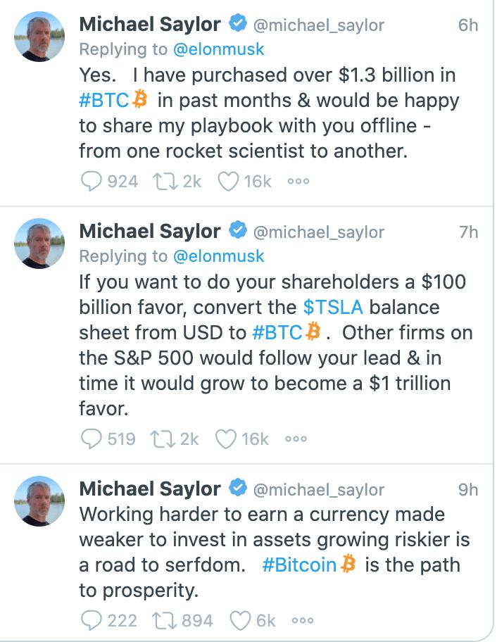 Saylor's Response to Elon