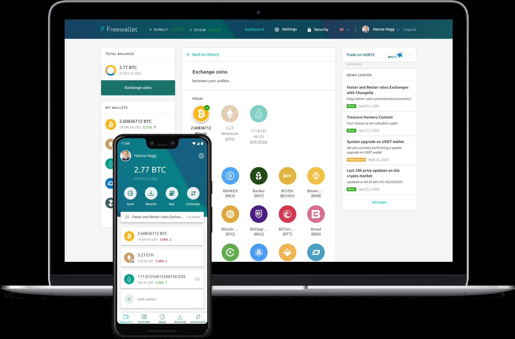 freewallet online crypto wallet