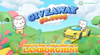 Join to win a fraction of a Lamborghini - CremePieSwap $50.000 giveaway
